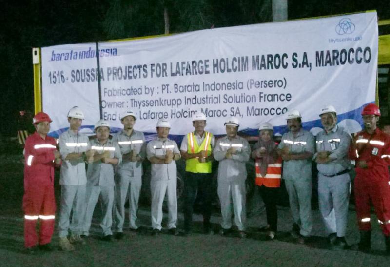 Barata Indonesia Ekspor Komponen Industri Semen ke Maroko