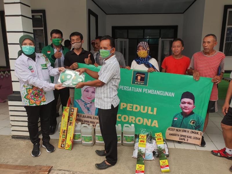 Demi Meredam Korona, Anggota DPRD Provinsi Banten Fraksi PPP Turun Tangan