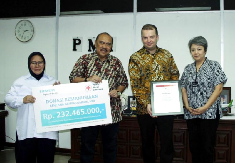 Donasi Siemens Indonesia Untuk Korban Gempa Bumi Lombok