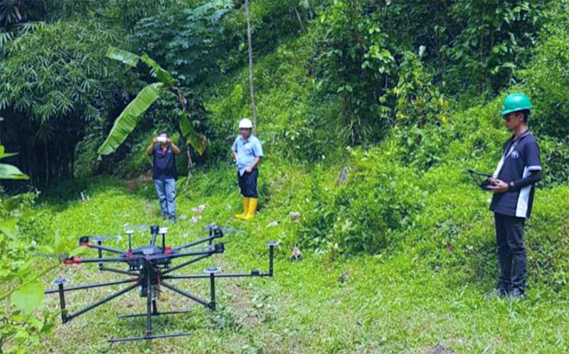 Teknologi Drone LiDAR dari Diperkenalkan Kepada PT PP