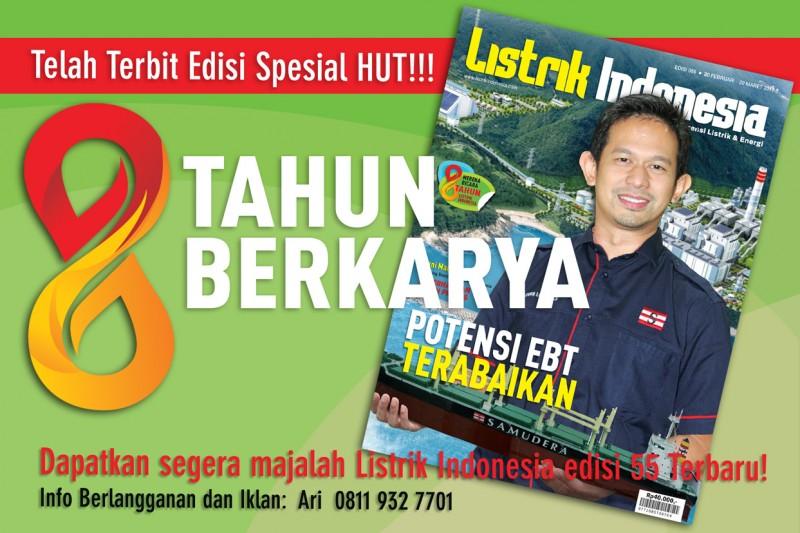 Telah Terbit Edisi Terbaru! Majalah Listrik Indonesia Edisi 55 Spesial HUT