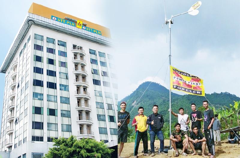 Wujud Kepedulian, Mahasiswa STT PLN Bangun Listrik Gratis untuk Warga
