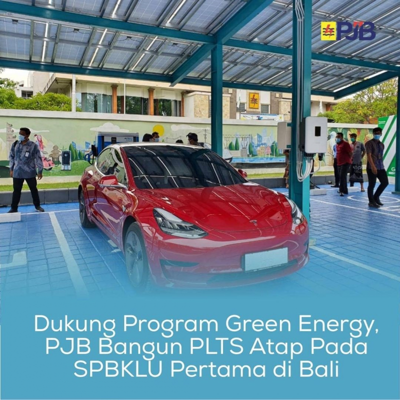 Photo of Dukung Program Green Energy, PJB Bangun PLTS Atap di SPBKLU Bali