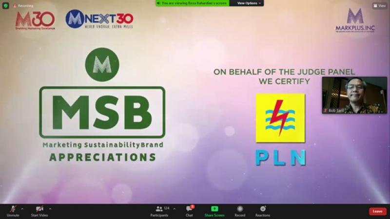 Photo of PLN Raih Marketing Sustainibility Brand Award