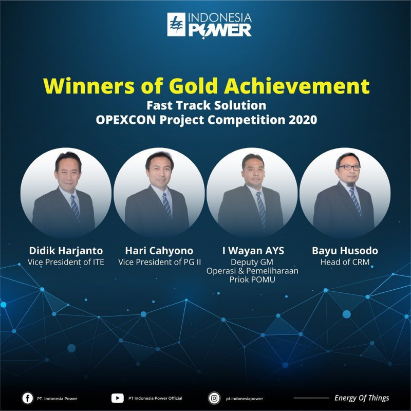 Photo of OPEXCON Project Competition 2020 : Indonesia Power Menuai Gold dan Silver Achievement