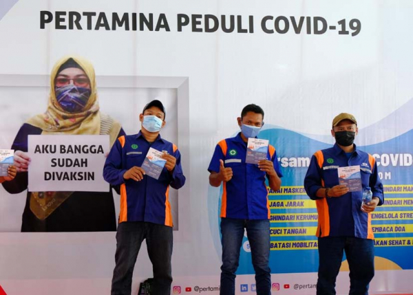 1800 Peserta Operator dan AMT Pertamina di Semarang Jalani Vaksinasi Covid-19