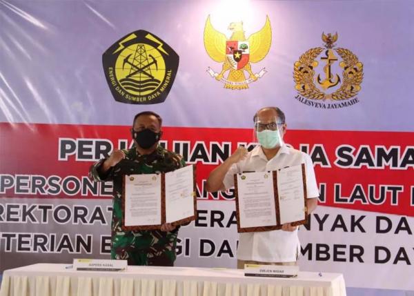 Awasi Migas Lepas Pantai, ESDM dan TNI Teken Kerja Sama Perbantuan Personel
