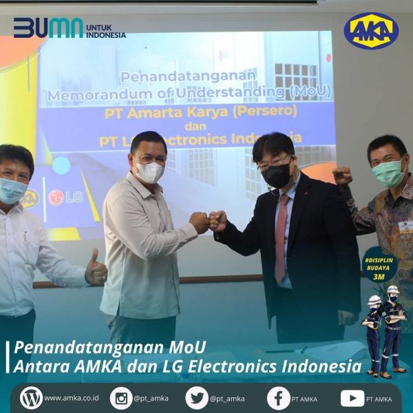 BUMN AMKA dan LG Electronics Indonesia Jalin Kerja Sama