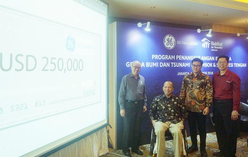 GE Donasikan US$250 Ribu Untuk Korban Bencana Palu dan Lombok