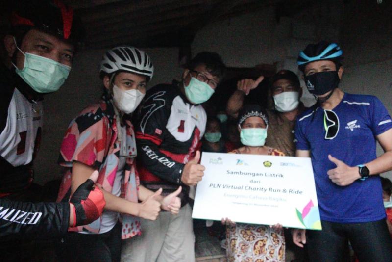 Hasil PLN Virtual Charity Run and Ride untuk Sambungkan Listrik Keluarga Tidak Mampu