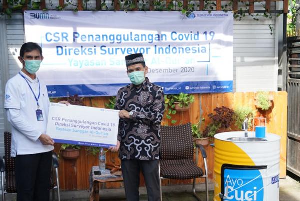 Jelang Akhir Tahun, Surveyor Indonesia Salurkan Bantuan Tanggulangi Pandemi