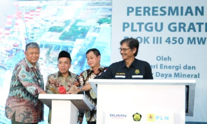 Menteri ESDM Resmikan PLTGU Grati Blok III 450 MW