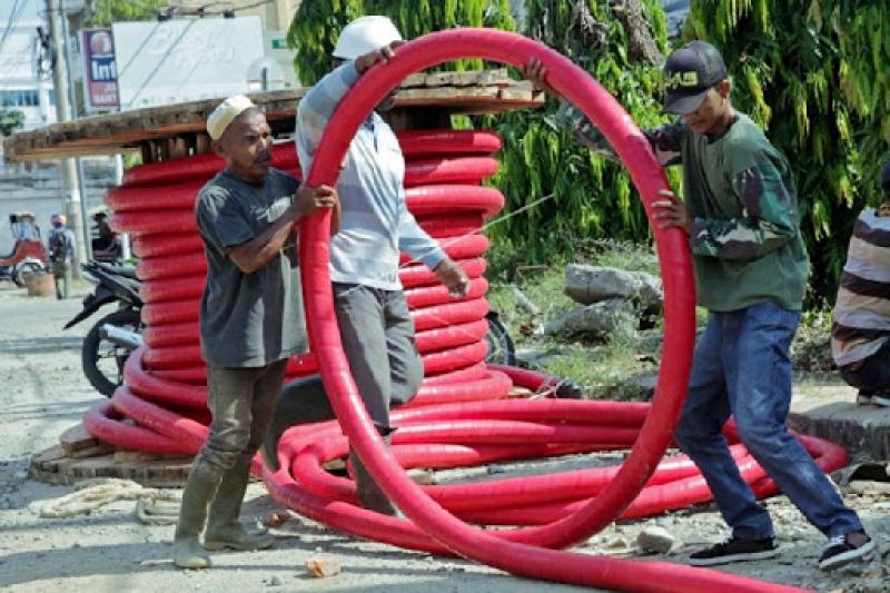 Papua Perkuat Kelistrikan Untuk PON Dengan Kabel Bawah Tanah