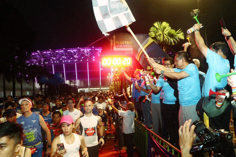 Partisipasi PLN, Electric Jakarta Marathon 2018 Sukses Diikuti 12.000 Peserta