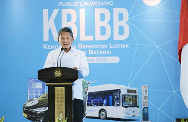 Pemerintah Lakukan Public Launcing Kendaraan Bermotor Listrik