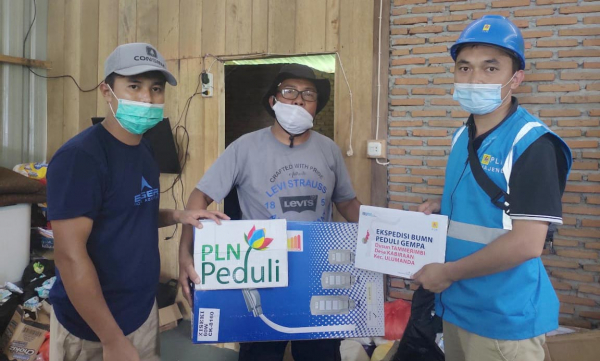 Penyambungan Listrik Gratis bagi Pelanggan Terdampak Gempa Mamuju dan Majene