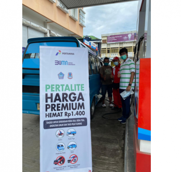 Pertalite Harga Premium Kini Hadir di SPBU Kota Manado
