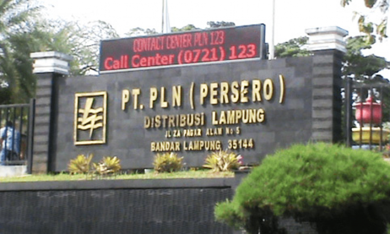 Pertumbuhan Listrik Lampung Tertinggi Se-Sumatera