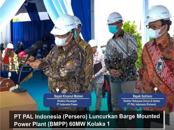 PT PAL Sukses Luncurkan Dual Fuel Barge Mounted Power Plant 60 MW Kolaka 1