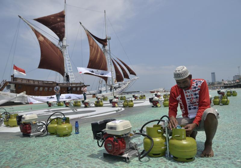 Ribuan Nelayan Sumsel Dapat Bantuan Konverter BBG
