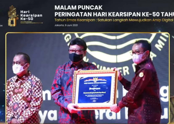 Tata Kelola Arsip Kementerian ESDM Raih Terbaik Ketiga di Indonesia