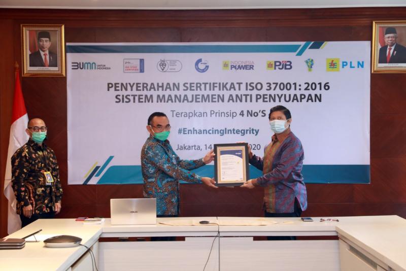Terapkan GCG, PLN Raih Sertifikasi Anti Manajemen Penyuapan ISO 37001
