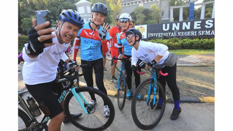 Terkumpul Rp 4,5 M, Istri Ganjar Pranowo Ikuti PLN Virtual Charity Run and Ride 2020