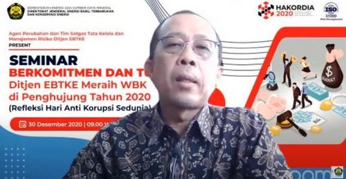 Usai Meraih WBK, Ditjen EBTKE Gelar Seminar Internal Anti Korupsi
