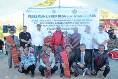 Photo of Sembilan Dusun Tapanuli Utara, Rasio Elektrifikasi Sumut Capai 99,99%